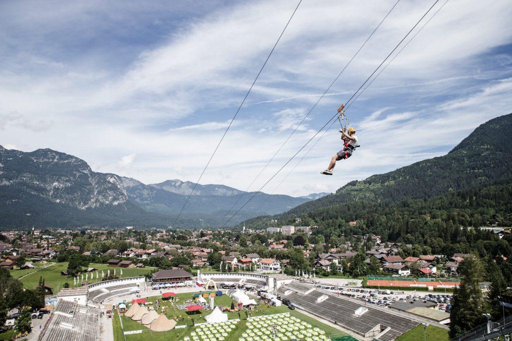 Ziplining in Garmisch-Partenkirchen