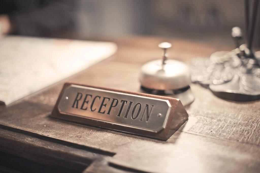 Reception Sign